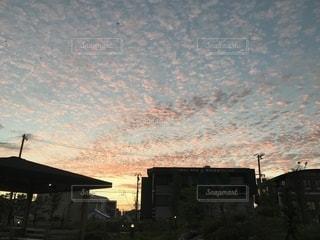 羊雲と流れての写真・画像素材[2436454]