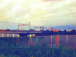 空,橋,水面,夕方,土手,フィルム,下町,フィルム写真,フィルムフォト