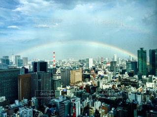東京と虹の写真・画像素材[2508163]