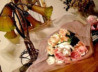 バラ パステル 花束の写真・画像素材[4204716]