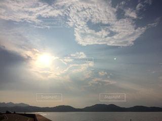 空,太陽,夕焼け,光,ハート,夕陽