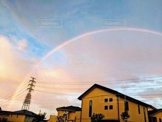 空,屋外,虹,家,フィルム,フィルム写真,フィルムフォト