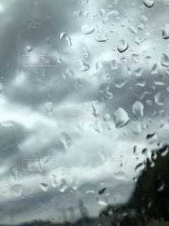 雨の中を飛ぶ鳥の群れの写真・画像素材[2467198]