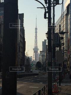街の通りの眺めの写真・画像素材[4402004]