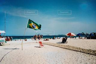 海,夏,ビーチ,国旗,フィルム,フィルム写真,ブラジル,フィルムフォト
