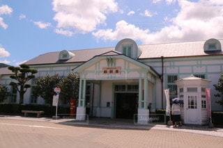 レトロな萩駅舎の写真・画像素材[2443913]