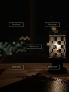 夜景とキャンドルの写真・画像素材[2645924]