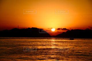 風景,海,空,太陽,朝日,ビーチ,夜明け,光,日の出,瀬戸内海,初日の出