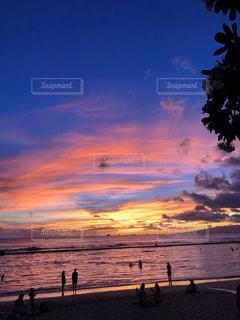 空,太陽,ビーチ,夕暮れ,海岸,光