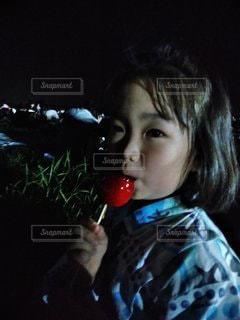 りんご飴の写真・画像素材[2451835]