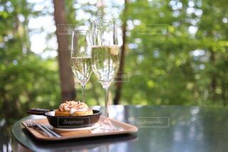 森林,森,テーブル,旅行,ワイン,グラス,乾杯,ドリンク,マフィン,ワイングラス,星野や富士