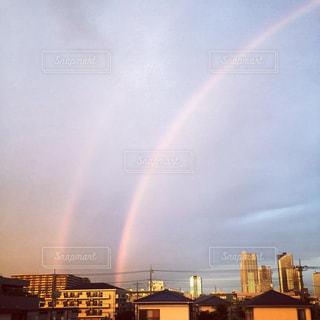 二重の虹の写真・画像素材[2509487]