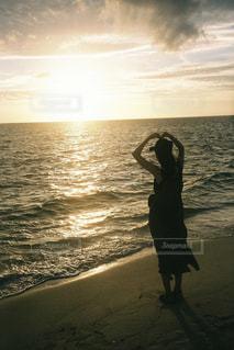 海,ビーチ,夕焼け,沖縄,ハート,人,夕陽,フィルム,サンセット,フィルム写真,フィルムフォト