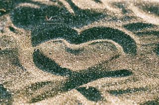 海,冬,夕日,砂,砂浜,海岸,レトロ,ハート,ナチュラル,フィルム,雰囲気,カラー,自然光,フィルム写真,フィルムフォト