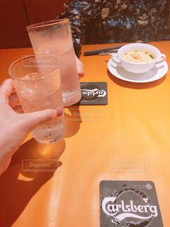 コップ,グラス,乾杯,フレンチ,ドリンク,母,尾道,一緒,レスポワール,久々にランチ2人きり