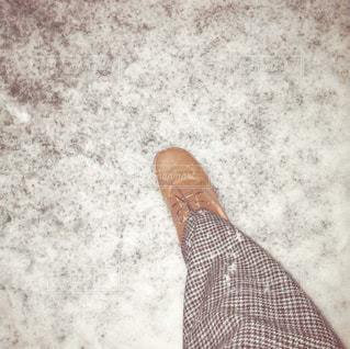 雪に足を踏み入れるの写真・画像素材[2849396]