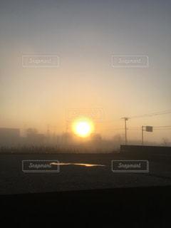 空,太陽,霧,光,朝