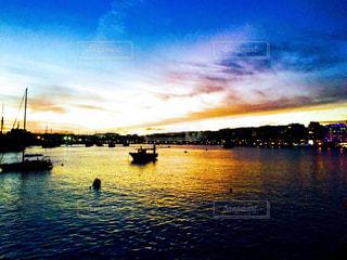 自然,風景,夕暮れ,水面,ヨーロッパ,旅行,ヨット,マルタ