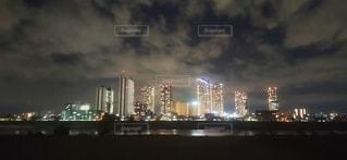 夜の武蔵小杉の写真・画像素材[2723595]