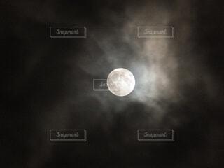 自然,風景,空,ぼかし,月,満月,15夜,中秋の明月