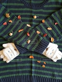 手袋とセーターの写真・画像素材[2706241]