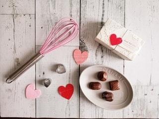 バレンタインのテーブルフォトの写真・画像素材[2929415]
