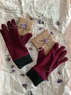 手袋をお洒落に撮りましたの写真・画像素材[4056234]