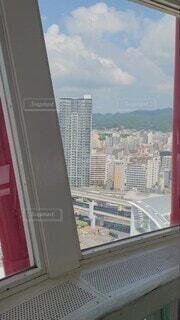 風景,空,建物,窓,景色,タワー,高層ビル,展望台,神戸,ポートタワー,商業施設,高い,展望室