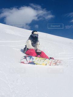 女性,自然,空,雪,屋外,ゲレンデ,スノーボード,斜面,日中,ウインタースポーツ