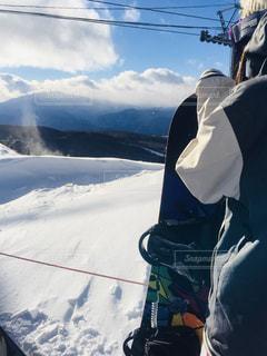 女性,空,雪,屋外,晴れ,山,人物,ゲレンデ,レジャー,スノーボード