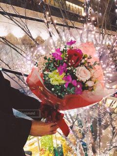男性,恋人,花,花束,バラ,プレゼント,イルミネーション,人,ロマンチック,プロポーズ,告白,アンバサダー,グランフロント大阪,シャンパンゴールド