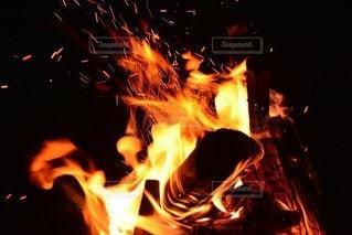 自然,火,たき火,熱