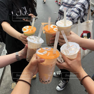 食べ物,ジュース,グラス,乾杯,ドリンク,女子会,タピオカ,空きコマ,kp