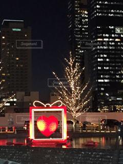街並みのライトアップの写真・画像素材[2721829]