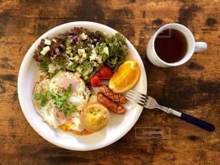 ワンプレートロカボ朝食の写真・画像素材[2512981]