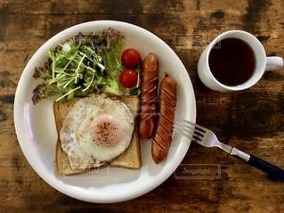 定番の朝食の写真・画像素材[2618807]