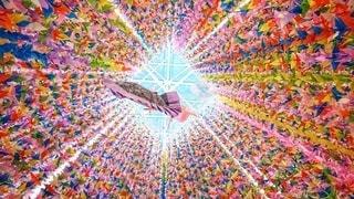 願いを込めた折り鶴の写真・画像素材[3134314]