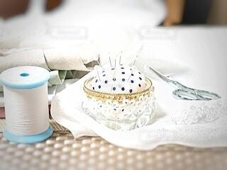 裁縫道具の写真・画像素材[3775176]