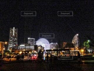 夜の横浜の写真・画像素材[4065401]