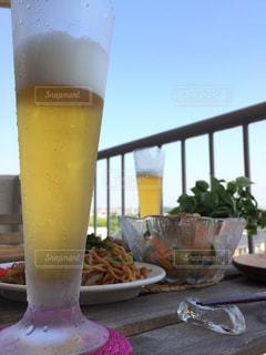 空,ランチ,ベランダ,週末,グラス,ビール,乾杯,ドリンク