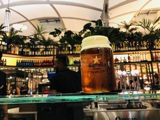 グラス,ビール,スペイン,バルセロナ,乾杯,バー,ドリンク,BAR,Estrella Damm