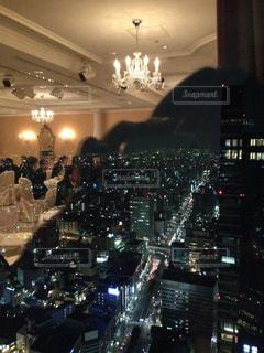 披露宴からの夜景の写真・画像素材[2741212]
