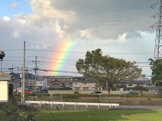 田舎の虹の写真・画像素材[2514146]
