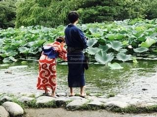 浴衣デート in鎌倉の写真・画像素材[2581915]