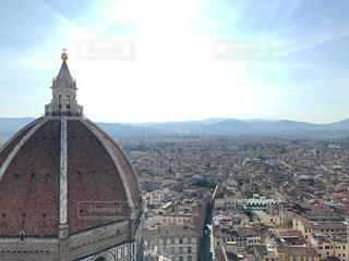 空,太陽,朝日,光,イタリア,フィレンツェ,ドウモ
