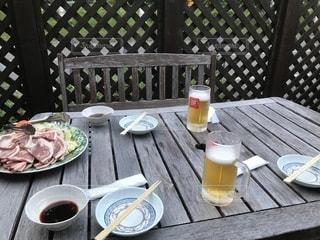 テラス,野菜,グラス,ビール,乾杯,焼肉,バーベキュー,ドリンク,焼き肉,最高,ジンギスカン,美味いもの,最後,今年最後