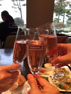 グラス,乾杯,ドリンク,女子会,女子旅,ホテルランチ,ロゼ