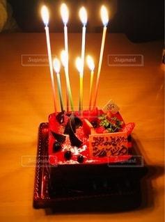 8才のバースデーケーキの写真・画像素材[2736430]