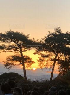 自然,風景,空,屋外,太陽,景色,光,樹木,元旦,日の出,岡山,初日の出,令和2年,神道山