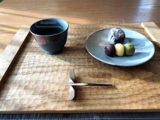 お茶と団子と饅頭の写真・画像素材[2967797]